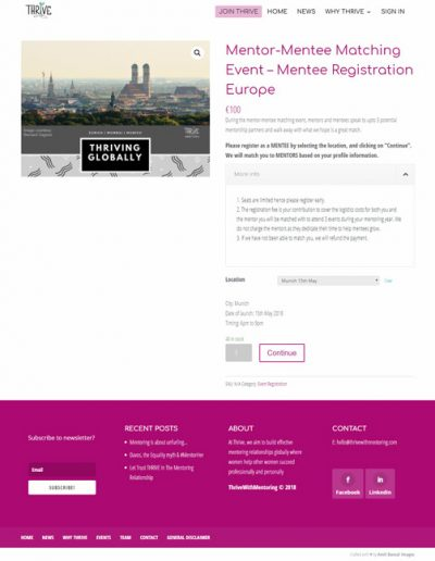 Event registration and checkout