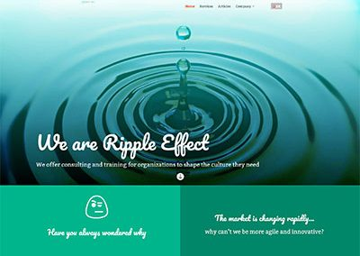 Ripple Effect – Corporate website for a small Swiss company