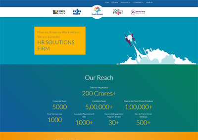 People Konnect – Corporate website for an established, mid-sized Indian company