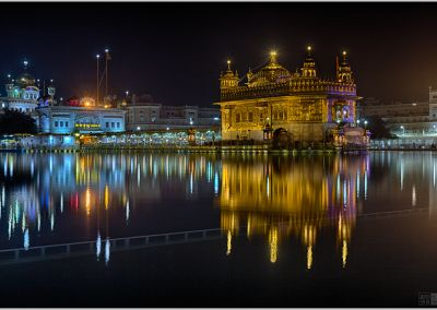 Cold winter evening at the Golden Temple