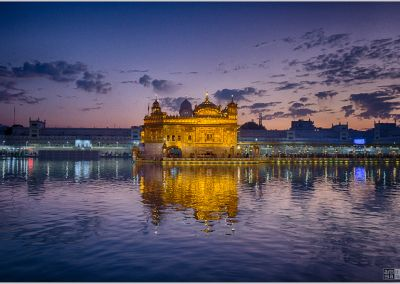 Golden hour at the Golden Temple